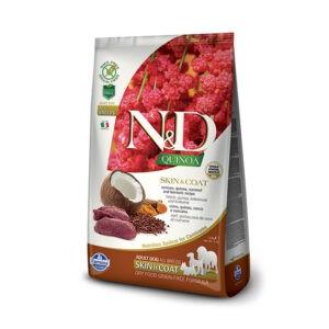 """מזון כלבים נטורל אנד דלישס קינואה וצבי לטיפול בעור ובפרווה 7 ק""""ג-0"""