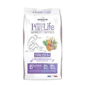 מזון חתולים פיור לייף סטרלייז 8+ שק 400 גרם-0