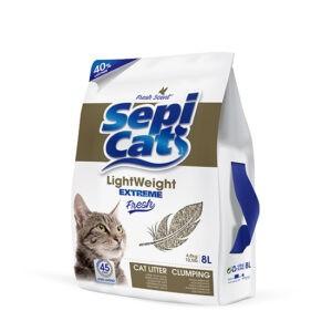 חול לחתולים ספי קט לייט וייט אקסטרים פרש - 8 ליטר-0