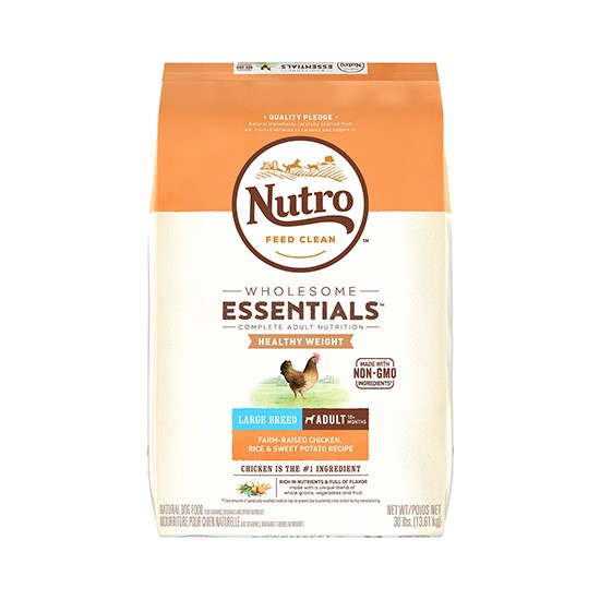 """מזון לכלבים נוטרו wholesome essentials משקל תקין גזע גדול עוף 13 ק""""ג-0"""