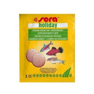 מזון לדגים סרה מזון חופשה 2 טבליות-0