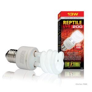 תאורה לזוחלים פלט uvb גבוה reptile uvb200 pt2340 13w אקזוטרה -0
