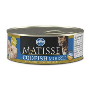 מעדן לחתול מאטיס מוס דג קוד 85 גרם-0