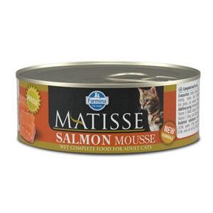 מעדן לחתול מאטיס מוס סלמון 85 גרם-0