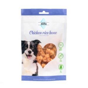 חטיף לכלב ללא סוכר פור לייף נגיסי עוף ואורז 70 גרם-0