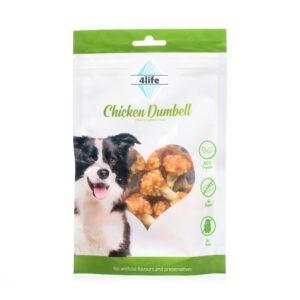 חטיף לכלב ללא סוכר פור לייף דאמבל חזה עוף 70 גרם-0