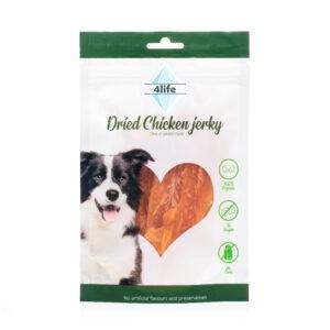 חטיף לכלב ללא סוכר פור לייף נתחי חזה עוף מובחר רך 70 גרם-0