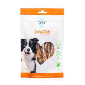 חטיף לכלב ללא סוכר פור לייף דגי ים מיובשים 70 גרם-0