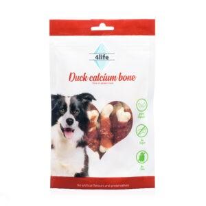 חטיף לכלב ללא סוכר פור לייף עצם סידן בציפוי חזה ברווז 70 גרם-0