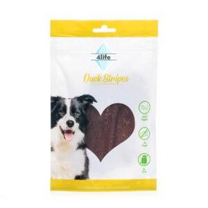 חטיף לכלב ללא סוכר פור לייף רצועות חזה ברווז מובחרות 70 גרם-0