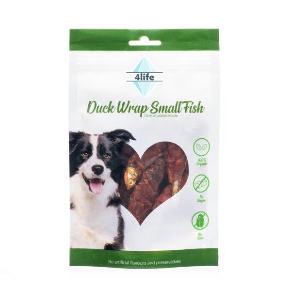 חטיף לכלב ללא סוכר פור לייף דג ים בציפוי חזה ברווז 70 גרם-0