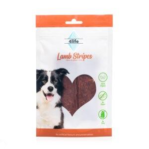 חטיף לכלב ללא סוכר פור לייף רצועות טלה מובחרות 70 גרם-0