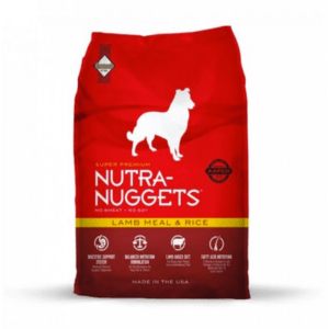 """מזון לכלבים נוטרה נאגטס בוגר כבש ואורז 15 ק""""ג-0"""