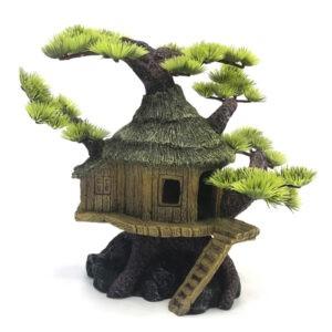 קישוט לאקווריום בית על עץ