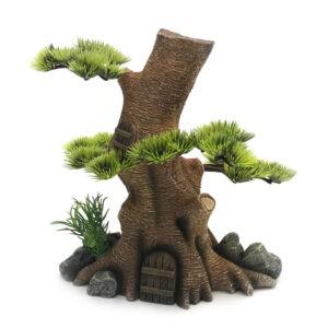 קישוט לאקווריום בית בתוך עץ